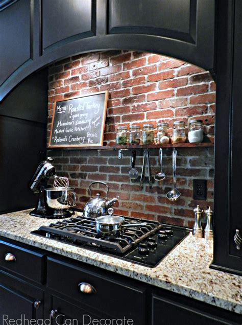 5 Gorgeous Brick DIY Backsplash Tutorials