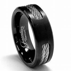 Black Titanium Wedding Bands For Men Fashion Belief
