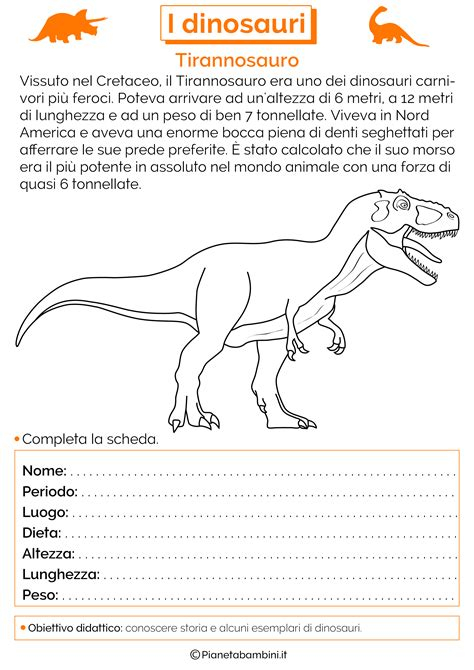 Giochi Di Dinosauri Volanti I Dinosauri Schede Didattiche Per La Scuola Primaria