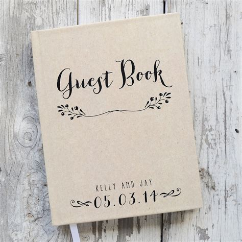 Wedding Guest Book by Wedding Guest Book Wedding Guestbook Custom Guest Book