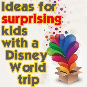 ideas surprising kids disney world trip prep wdw prep