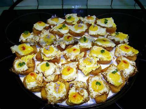 canapé oeuf recette de canapés aux oeufs de caille par la caille