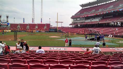 great american ball park section  cincinnati reds rateyourseatscom