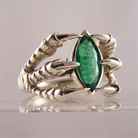 Marquise Cut Emerald Dragon Claw Ring Inspired By Game Of. Renaissance Rings. Blue Wave Wedding Rings. Lavender Wedding Engagement Rings. White Stone Gold Rings. Unique Wedding Wedding Rings. Aquarius Rings. Survival Wedding Rings. Modeled Wedding Rings