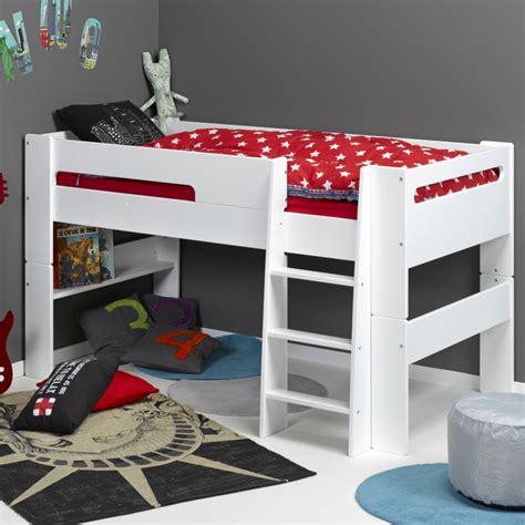 lit mi hauteur avec bureau lit mi hauteur modulable 90x190 paulblcm01h