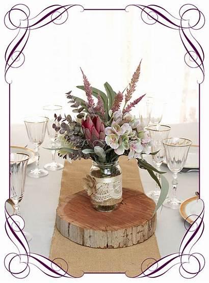 Table Jar Centrepiece Mackenzie Native Boho Flowers