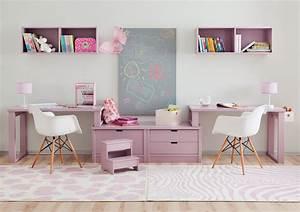 Bureau Ado Fille : bureau enfant double sym trique prix so c lin asoral ~ Melissatoandfro.com Idées de Décoration