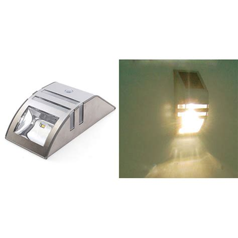 solar motion sensor security shed wall light outdoor