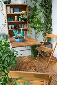 Table Pour Petit Balcon : une jolie table en bois pliante pour la terrasse plantes vertes balcon magnifique design ~ Melissatoandfro.com Idées de Décoration