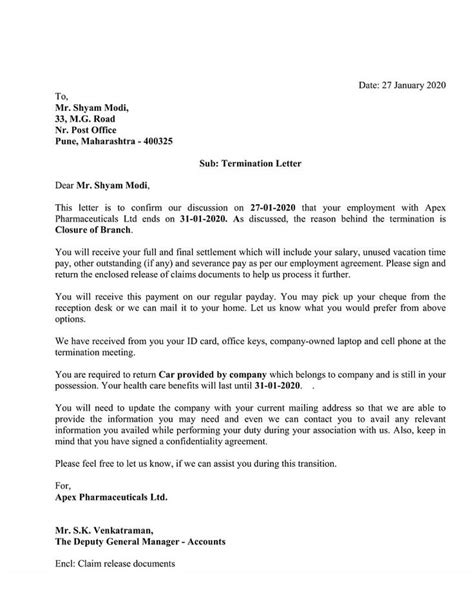 Download Employee Termination Letter Excel Template - ExcelDataPro   Lettering, Application