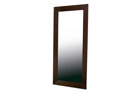 Doniea Dark Brown Wood Frame Modern Mirror   Rectangle