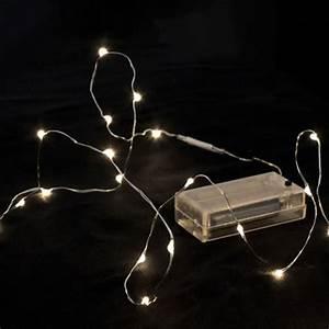 Guirlande Led Pile : guirlande led 40 ampoules blanc chaud ~ Teatrodelosmanantiales.com Idées de Décoration