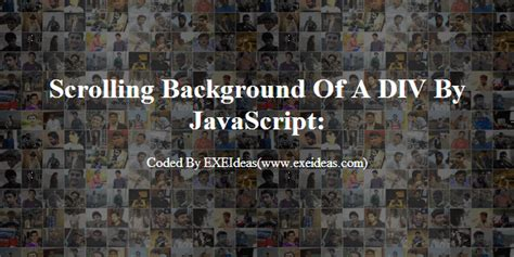 Html Scrolling Div How To Keep Scrolling A Div Background Image Using
