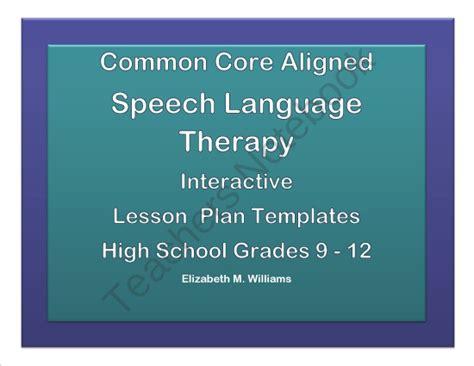 Common Core Aligned Interactive Speech Language Therapy