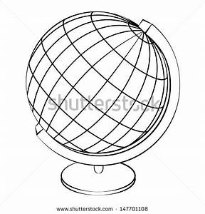 13 Globe Outline Vector Images - World Map Outline Vector ...