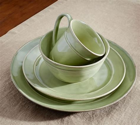 Cambria 16 Piece Dinnerware Set   Mint   Pottery Barn