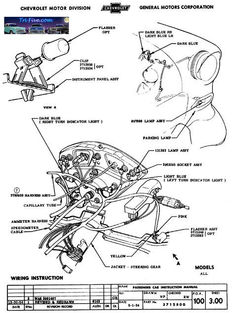 55 Cadillac Wiring by Horn Relay Brake Lights Relay Regulator Trifive
