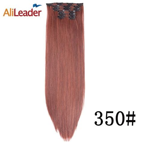 Alileader Synthetic Clip In Extensions Cheap Hair