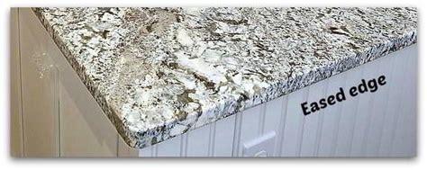eased square granite edges  kitchen countertop dream