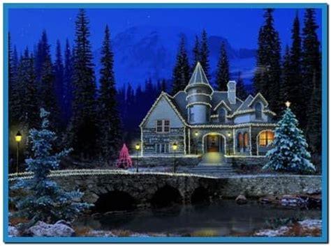 christmas cottage full screensaver