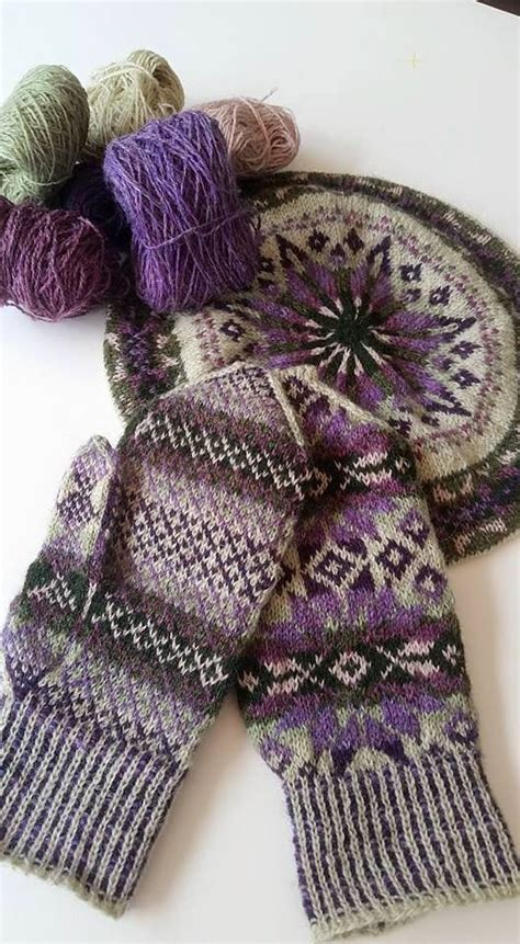 traditional fair isle tam mittens pattern by starmore yarn selection and knitting by