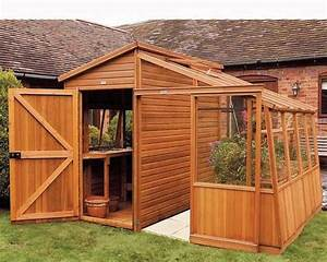 Storage shed for sale, garden shed with lean to greenhouse