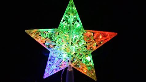 estrella navidad led 22 luces punta de arbol youtube