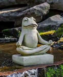 Statue Jardin Design : meditating zen frog garden statue gardens design and zen ~ Dallasstarsshop.com Idées de Décoration