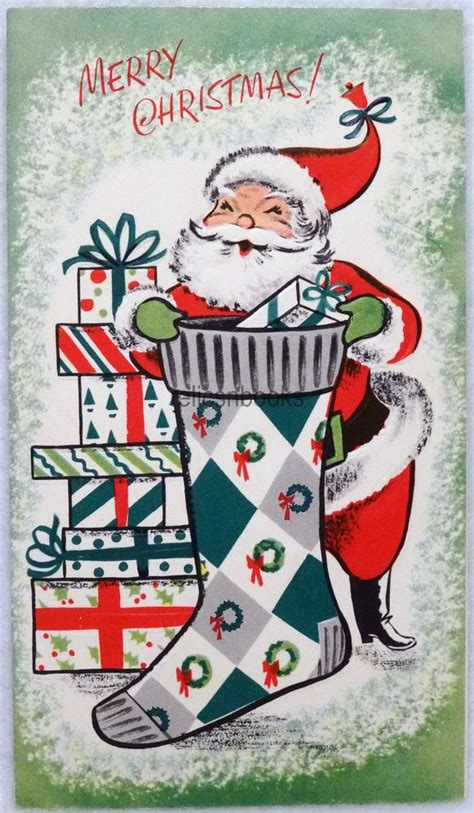 1000 images about vintage santa cards pictures pinterest reindeer christmas postcards and