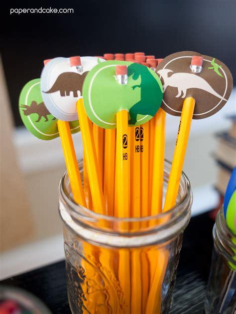 dinosaur printable classroom decorations paper  cake