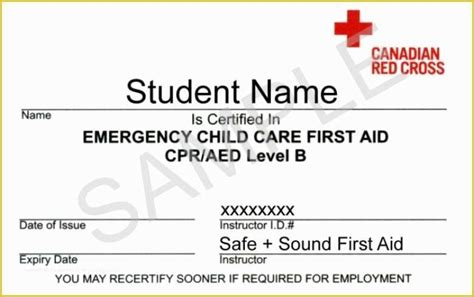 cpr card template  fake american red cross