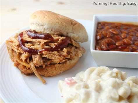 easy crock pot bbq pulled pork healthy easy