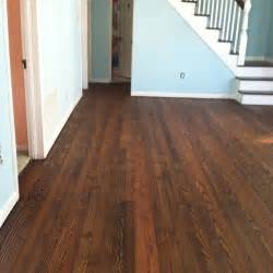 carrie is in love with her hardwood floors with stained
