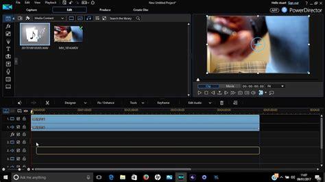 sync audio  video  cyberlink powerdirector
