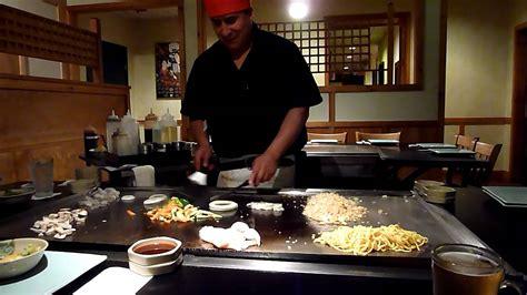 hibachi  japanese style  cooking youtube
