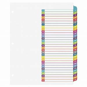 avery ready index 1 31 tab dividers 31 tabs multiple With avery ready index template 31 tab