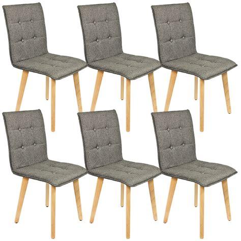 6 Stuhle Esszimmer by 6 Set St 252 Hle Esszimmer Holz Retro Design Grau Kingpower