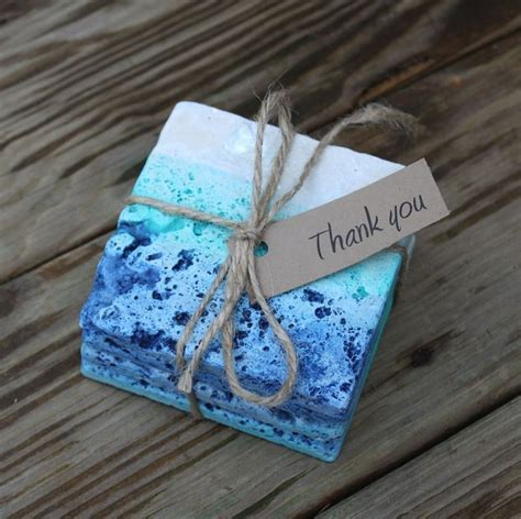 ombre washed tumbled coasters 16 00 so pretty they actually make me want to use coasters