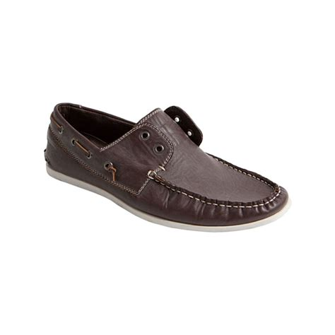 Madden Graham Boat Shoes by Steve Madden Gamer Laceless Boat Shoes In Brown For Lyst