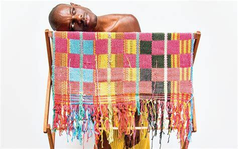 diedrick brackens weaves powerful stories  tapestry galerie