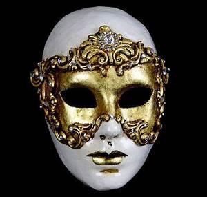 Volto Barocco Venetian Masquerade Mask Female - Gold ...