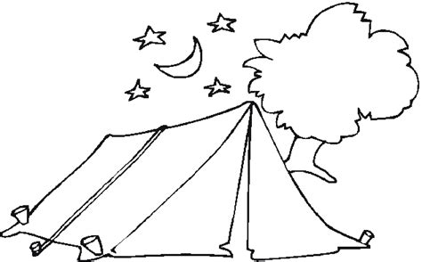 30 Camping Coloring Pages