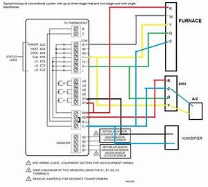 Furnace Thermostat Wiring Diagram  Goodman Furnace Thermostat Wiring