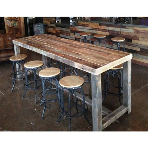 narrow counter height table home design charming narrow bar height table reclaimed