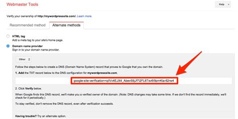 Verifying Your Domain With Google
