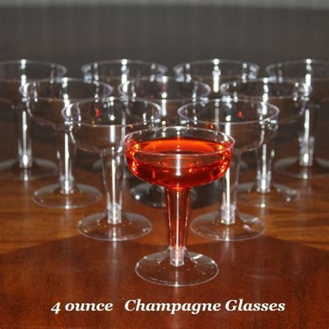 box    ounce disposable plastic champagne glasses