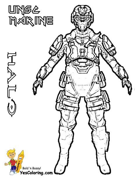 heroic halo  coloring pages halo   halo