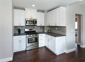 modern kitchen with warm wood floors gray paint white With kitchen colors with white cabinets with where to buy city sticker