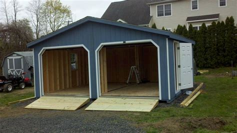 amish built 20x20 a frame doublewide garage storage shed
