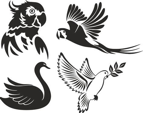 birds stencils  vector cdr  axisco